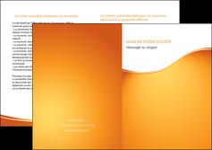 faire modele a imprimer depliant 2 volets  4 pages  orange fond orange fluide MLGI65468