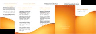 personnaliser maquette depliant 4 volets  8 pages  orange fond orange fluide MLGI65472