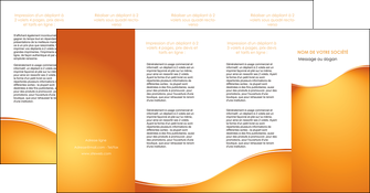 exemple depliant 4 volets  8 pages  orange fond orange fluide MIF65476