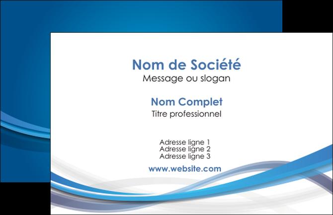 personnaliser maquette carte de visite bleu fond bleu pastel MIF66666