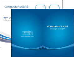 modele carte de visite bleu fond bleu pastel MIF66676
