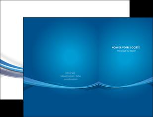 exemple pochette a rabat bleu fond bleu pastel MLGI66678