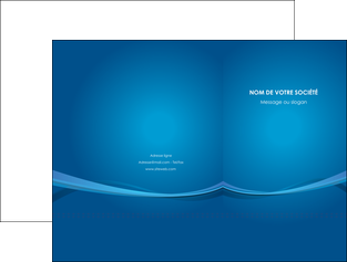 imprimerie pochette a rabat bleu fond bleu pastel MIF66680