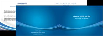 personnaliser modele de depliant 2 volets  4 pages  bleu fond bleu pastel MIF66684