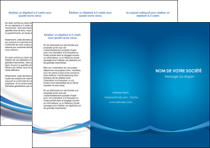 personnaliser maquette depliant 3 volets  6 pages  bleu fond bleu pastel MIF66692