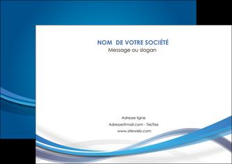 impression flyers bleu fond bleu pastel MIF66694