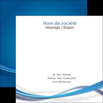 impression flyers bleu fond bleu pastel MIF66698