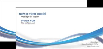 imprimer carte de correspondance bleu fond bleu pastel MIF66704