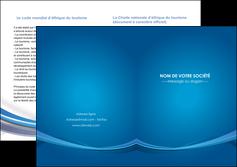 cree depliant 2 volets  4 pages  bleu fond bleu pastel MIF66706