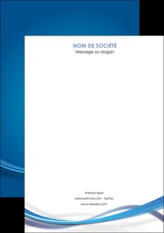 maquette en ligne a personnaliser affiche bleu fond bleu pastel MIF66708