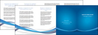 imprimerie depliant 4 volets  8 pages  bleu fond bleu pastel MIF66710