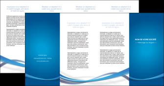 realiser depliant 4 volets  8 pages  bleu fond bleu pastel MIF66714