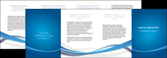 personnaliser maquette depliant 4 volets  8 pages  bleu fond bleu pastel MIF66716