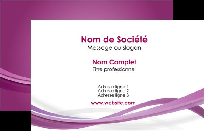 modele en ligne carte de visite violet violette abstrait MIF66938