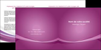 impression depliant 2 volets  4 pages  violet violette abstrait MIF66968