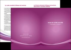 imprimer depliant 2 volets  4 pages  violet violette abstrait MIS66978