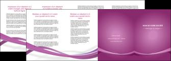 creer modele en ligne depliant 4 volets  8 pages  violet violette abstrait MIS66982