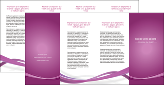 creer modele en ligne depliant 4 volets  8 pages  violet violette abstrait MIS66986