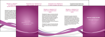 modele depliant 4 volets  8 pages  violet violette abstrait MLGI66988