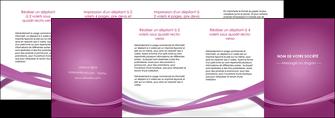 modele depliant 4 volets  8 pages  violet violette abstrait MIS66988