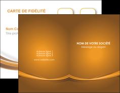 imprimerie carte de visite marron marron chocolat couleur MIF67052