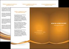 faire modele a imprimer depliant 3 volets  6 pages  marron marron chocolat couleur MIF67068