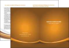 maquette en ligne a personnaliser depliant 2 volets  4 pages  marron marron chocolat couleur MIF67082
