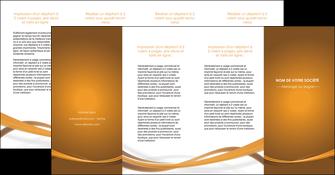 personnaliser maquette depliant 4 volets  8 pages  marron marron chocolat couleur MIF67090
