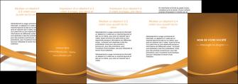 creer modele en ligne depliant 4 volets  8 pages  marron marron chocolat couleur MIF67092