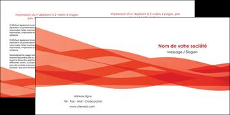 exemple depliant 2 volets  4 pages  rouge couleurs chaudes fond  colore MLGI67134