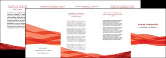 imprimerie depliant 4 volets  8 pages  rouge couleurs chaudes fond  colore MLGI67146