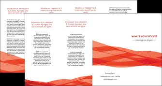 faire depliant 4 volets  8 pages  rouge couleurs chaudes fond  colore MLGI67150