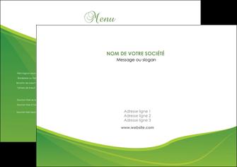 modele en ligne set de table espaces verts vert fond vert couleur MLGI67156