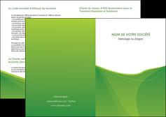maquette en ligne a personnaliser depliant 2 volets  4 pages  espaces verts vert fond vert couleur MLGI67162