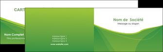 imprimer carte de visite espaces verts vert fond vert couleur MLGI67164