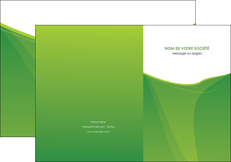 maquette en ligne a personnaliser pochette a rabat espaces verts vert fond vert couleur MLGI67170