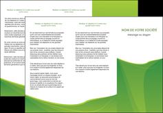 personnaliser maquette depliant 3 volets  6 pages  espaces verts vert fond vert couleur MLGI67182