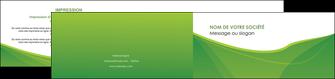 imprimer depliant 2 volets  4 pages  espaces verts vert fond vert couleur MLGI67192