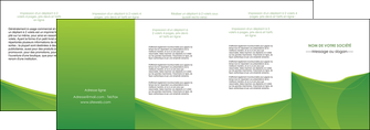 modele en ligne depliant 4 volets  8 pages  espaces verts vert fond vert couleur MLGI67198