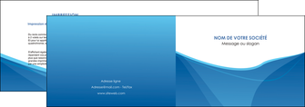 exemple depliant 2 volets  4 pages  bleu bleu pastel couleur froide MLGI67282