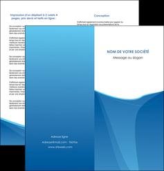 exemple depliant 2 volets  4 pages  bleu bleu pastel couleur froide MLGI67294