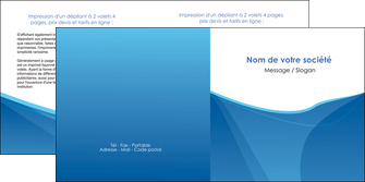 realiser depliant 2 volets  4 pages  bleu bleu pastel couleur froide MLGI67296