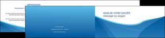 creer modele en ligne depliant 2 volets  4 pages  bleu bleu pastel couleur froide MLGI67302