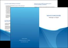 modele en ligne depliant 2 volets  4 pages  bleu bleu pastel couleur froide MLGI67306