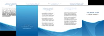 faire modele a imprimer depliant 4 volets  8 pages  bleu bleu pastel couleur froide MLGI67308