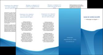 personnaliser modele de depliant 4 volets  8 pages  bleu bleu pastel couleur froide MLGI67312