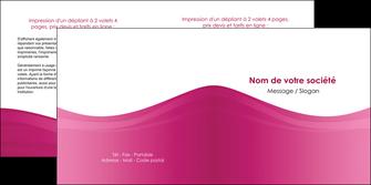 maquette en ligne a personnaliser depliant 2 volets  4 pages  fond violet texture  violet contexture violet MLGI67352