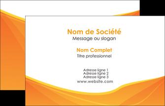 personnaliser maquette carte de visite orange fond orange jaune MLGI67372
