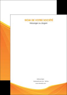 maquette en ligne a personnaliser flyers orange fond orange jaune MLGI67376