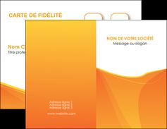 creation graphique en ligne carte de visite orange fond orange jaune MLGI67382